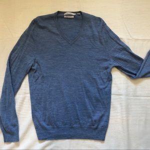 CALVIN KLEIN Men's Extra Fine Light Blue Sweater